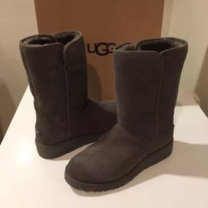 New Ugg Amie Suede Gray short boots size 5 ❤️last1